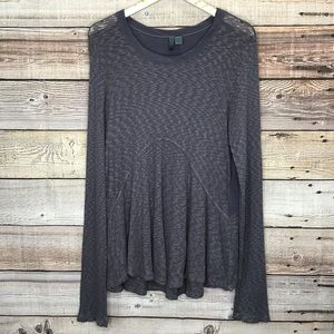 Anthropologie Left Of Center Mixed Media Tee